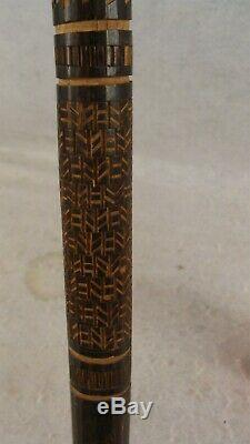 1942 German WWll Battle of Wolchow Soldier Carved Walking Stick Cane