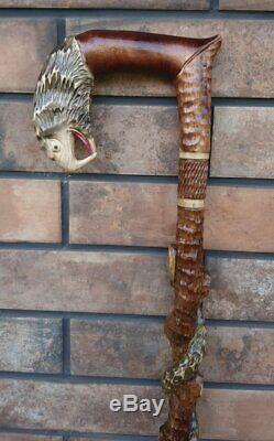 3d Cane Eagle Walking stick Handmade Wood Carving Strong stick Exquisite design