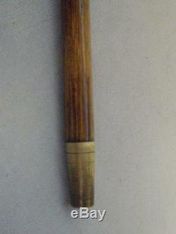 ANTIQUE DRESS/WALKING CANE With CARVED TOP & GP COLLAR 97.5CM