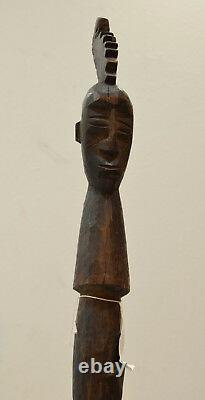 African Walking Stick Carved Wood GoGo Tribe Ebony Walking Stick