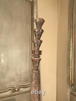 Antique African wood cane walking stick carved with figures 1880 Rare Spiritual
