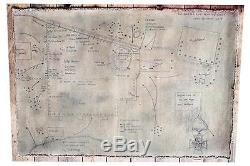 Antique Austrian/swiss Carved Cane Weggis-canvas Plan For Battle Of Rorkes Drift