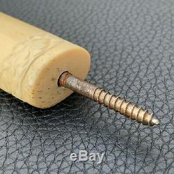 Antique Carved ORPHEUS Bone Bovine Handle Parasol Sword Walking Stick Umbrella