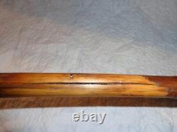 Antique Carved Wood Folk Art Snake Head Walking Stick, Cane, Primitive
