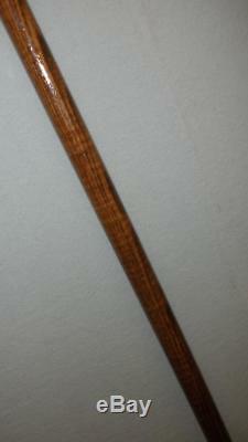 Antique Hallmarked Silver Walking Stick/Dress Cane- Carved Man Handle/Top