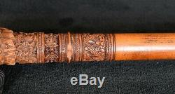 Antique Hand Carved Asian Dragon Themed Gents Walking Stick/Cane