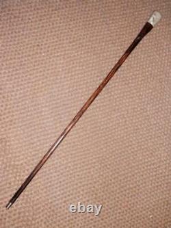 Antique Hand-Carved Bovine Bone North American Native Gent Walking Stick/Cane
