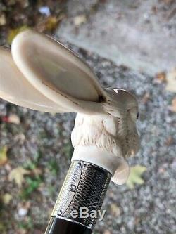 Antique Hand Carved Rabbit Walking Stick