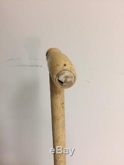 Antique Hand Carved Whale Bone Cane Walking Stick Nautical Interest