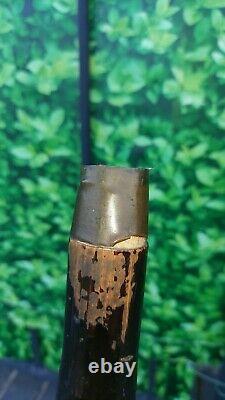 Antique Japanese Meiji Period Bamboo Walking Cane Fishing Rod