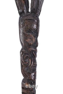 Antique Maori Carved Walking Stick