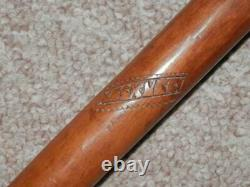 Antique Olive Wood Greek Kepkypa (Corfu) Stick With Hand-Carved Hecate Top 89cm