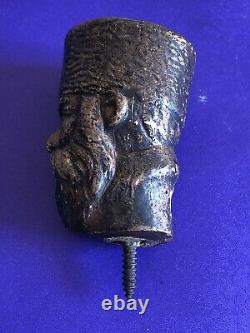 Antique Russian Hand Carved Walking Stick Handle, Circa 1900