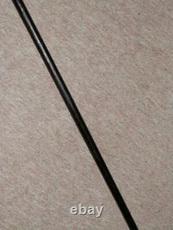 Antique Walking Stick/Cane Hand-Carved Egyptian Top With Silver Collar 92cm