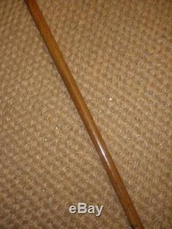 Antique Walking Stick Dress Cane Embossed Carved Top & Buckle Collar'M. T