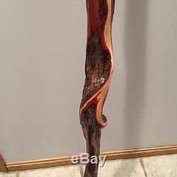 Awesome 5' diamond willow walking stick withmorel mushroom carving
