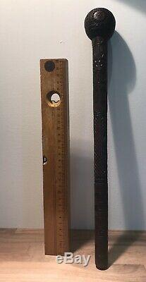 Beautiful Old Carved Wooden Walking Stick Top