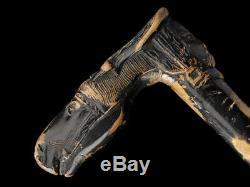 C1880 Kepkypa Corfu Carved Horse Head Black Walking Stick
