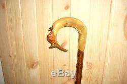 Carved Horn Handled Shepherds Crook/walking stick/hiking pole