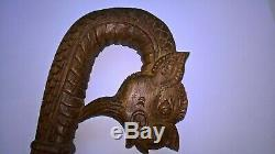 Chinese walking stick carved dragon and snake light but strong
