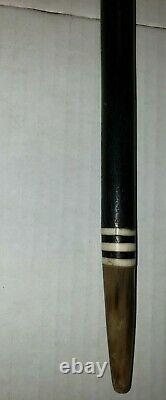 Circa 1920s Cane Walking Stick Dramatic Bone Carved Animal and tip