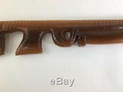 Custom Cane Walking Stick Hand Carved Wood Rifle Shape 40
