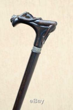 Custom Walking Cane NYMPH Fashionable Walking Stick Hand Carved Oak Wood Walking