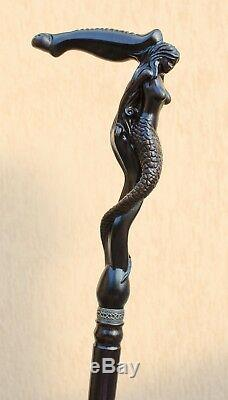 Designer Men's Wooden Walking Canes Sticks Siren Stylish Carved Antique Cane
