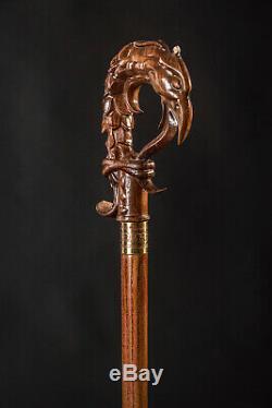 Designer Walking canes Walking Stick Dragon Dear Walking cane Hand Carved II