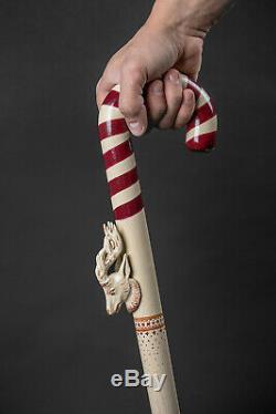 Designer Walking canes Walking Stick Peppermint Dear Walking cane Hand Carved II