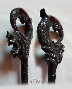 Dragon Carved, walking sticks Dragon, handmade cane, Dragon Wood walking stick