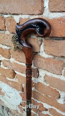 Eagle Carved handle. Hiking stick. Wooden cane handmade. Walking stick carved. Wal