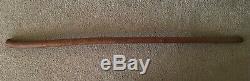Folk Art Carved Wood Political Great Depression Walking Stick Cane Hoover 1934