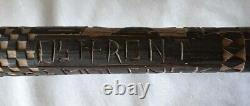 German Wolchow Stick Dated 1943 Carved Ostfront Smolensk