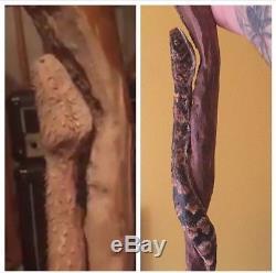 Hand Carved Snake Walking Stick