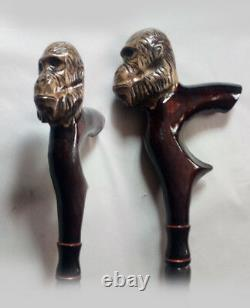 Hand carved walking sticks Gorilla Wood walking cane Gorilla Walking stick