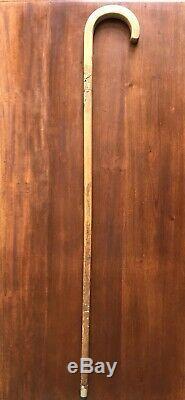 Japanese Carved Mice Walking Stick Vintage Antique Wood Carving Handle