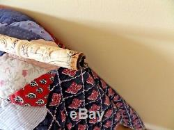 Japanese / Chinese Carved Antique Walking Stick Bone(Bovine)With Horn Handel