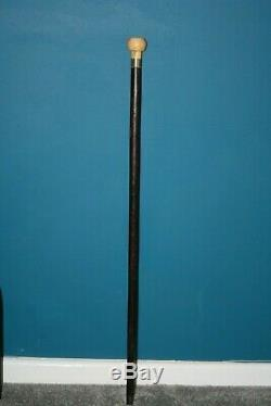 Lovely antique walking cane with carved knot pommel walking stick