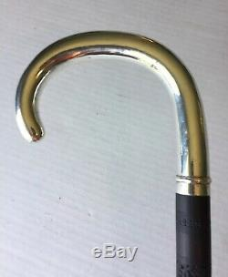 Magnificent Sterling Silver Cane / Walking Stick With Carved Shaft Ebony