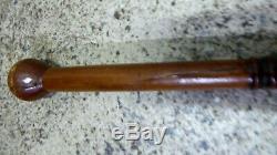 Old Pacific Island Carved Wooden Walking Stick Staff Tonga Samoa Solomon Club