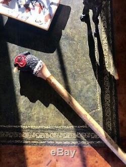Purdey Shotgun Walking Stick Pheasant Game Shooting Hunting Holland Cane Carved