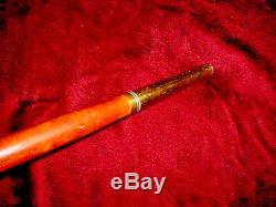 Quality Mans Vintage Carved Stag Antler Handled Cane Walking Stick