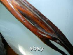 RARE Vintage Shillelagh Walking stick cane twisted carved vines one of a kind