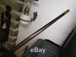 Rare Antique Carved Coromandel Walking Stick