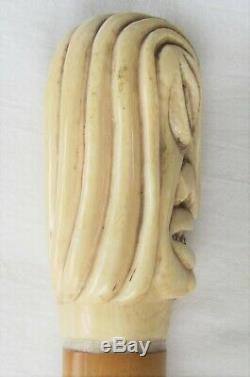 Rare Louis Vuitton Walking Stick with Carved Handle