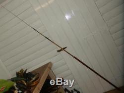 SUPERB GADGET Japanese bamboo fishing rod STICK/CANE. (HAND CARVED SHAFT)