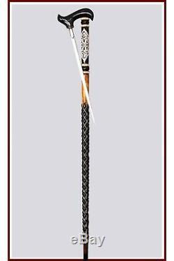 SWORD CANE Hand carved walking sticks with secret blade inside knife