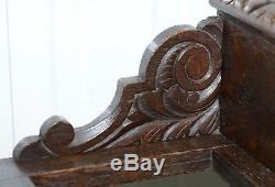 Stunning Original Greenman Carved Solid English Oak Walking Stick Umbrella Stand
