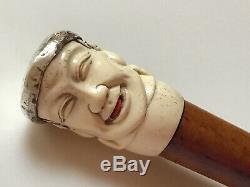 Superb Antique Carved Articulated Walking Stick